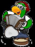Petey K con su acordeon