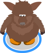 Brown Bat Costume in-game