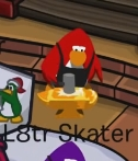 L8tr Skater disfrazado de Herrero del oro