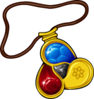 Amulet icon fire water gems