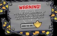 Operation Hibernation Warning Sign