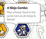 4 ninja combo stamp book