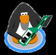 Green Keytar playing ingame