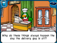 Pizza chef delivery guy