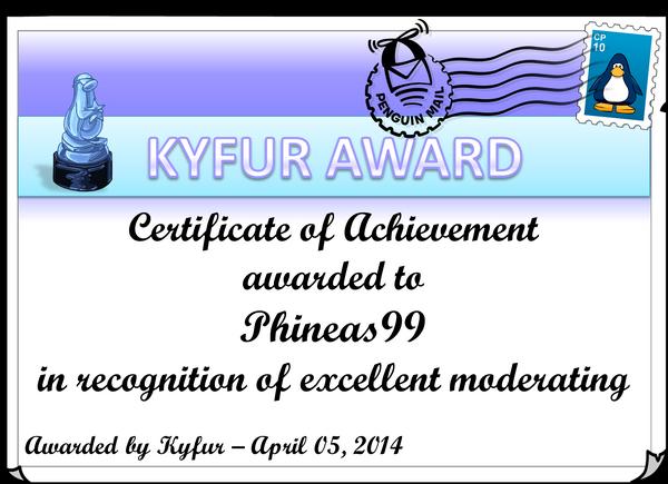 Phineas99Award