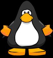 Pinguino con Flotadores Naranjas