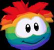 Rainbow puffle 3d icon