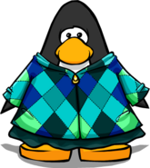 Green Quilted Coat on Player Card