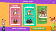 Zootopia Party app interface page 2