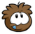 BrownPufflePin