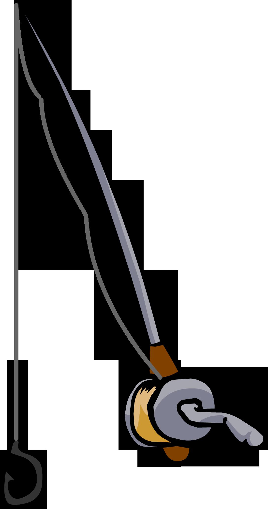 fishing rod club penguin wiki fandom powered by wikia rh clubpenguin wikia com cartoon fishing rod Cartoon Bait