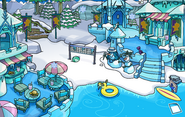 Frozen Party Cove frozen
