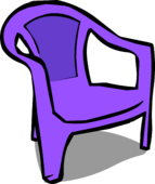Purple Plastic Chair sprite 005