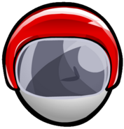 Red Bobsled Helmet old icon