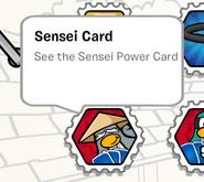 Sensei card stamp book