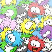 Puffle Collage Background photo