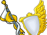 Gold Staff and Shield