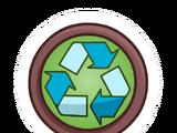 Pin de Signo de Reciclaje