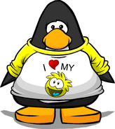 I Heart My Yellow Puffle T-Shirt player card
