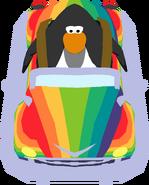 Rainbow Car in-game