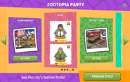 Zootopia Party interface page 4