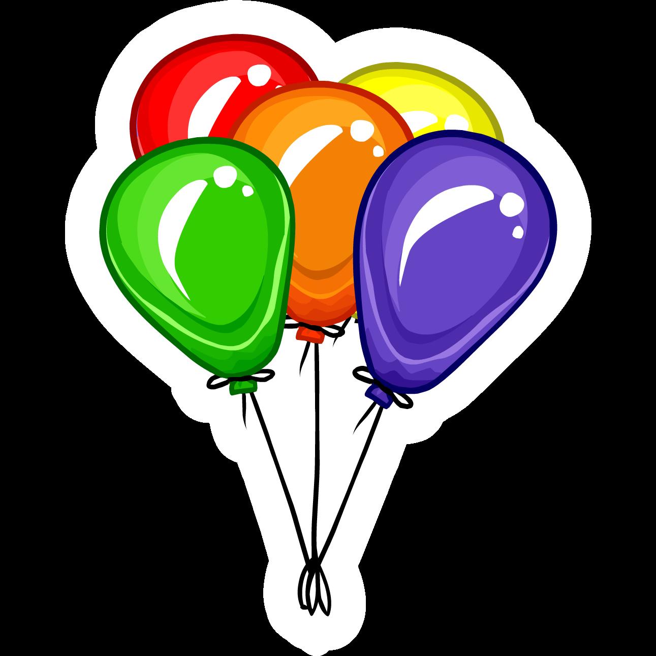 balloon bunch pin club penguin wiki fandom powered by wikia rh clubpenguin wikia com Work Party Clip Art Birthday Balloons Clip Art