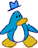 Doodle Dimension penguin Light Blue hat