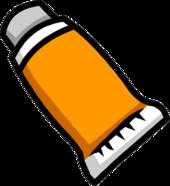 Orange Face Paint icon empty