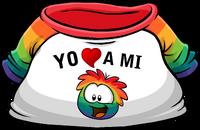 Camiseta Yo Amo a mi Puffle Multicolor icono