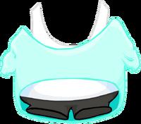 Camiseta Turquesa sin Hombro icono