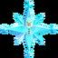Coleccionable copo de nieve de cristal