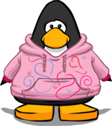 Colored Hearts Hoodie on a Player Card
