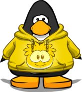 Gold Puffle Hoodie on Player Card