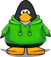 Green O'berry Hoodie on a Player Card