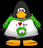 I Heart My Green Puffle T-Shirt PC