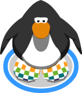 Rainbow Checkered Shoes in-game