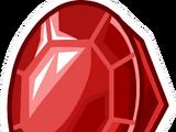 Round Ruby Pin