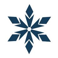 ICP Adelanto Calcomanía Copo de Nieve Navidad 2017