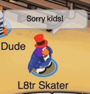 L8tr Skater: ¡Disculpen, niños!