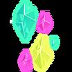 Resplandor de cristal Embajador Calcomanía