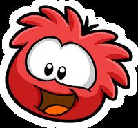 Rojo puffle pin
