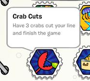 Crab cuts stamp book