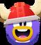 Emoticón de Cara de vikingo rojo