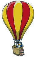 Super Hero Bounce Hot Air Balloon