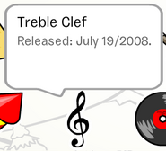 Treble Clef Pin in Stampbook