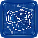 Blueprint Bottomless Backpack icon
