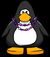 Purple Beaded Necklace PC