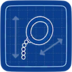 Blueprint monocle icon