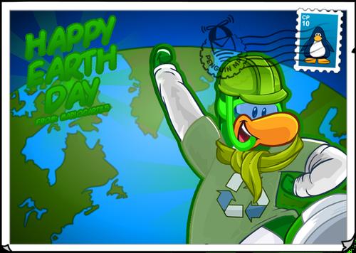 Mariocart25 Earth Day postcard