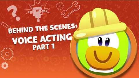 Behind the Scenes Voice Acting - Part 1 Disney Club Penguin Island